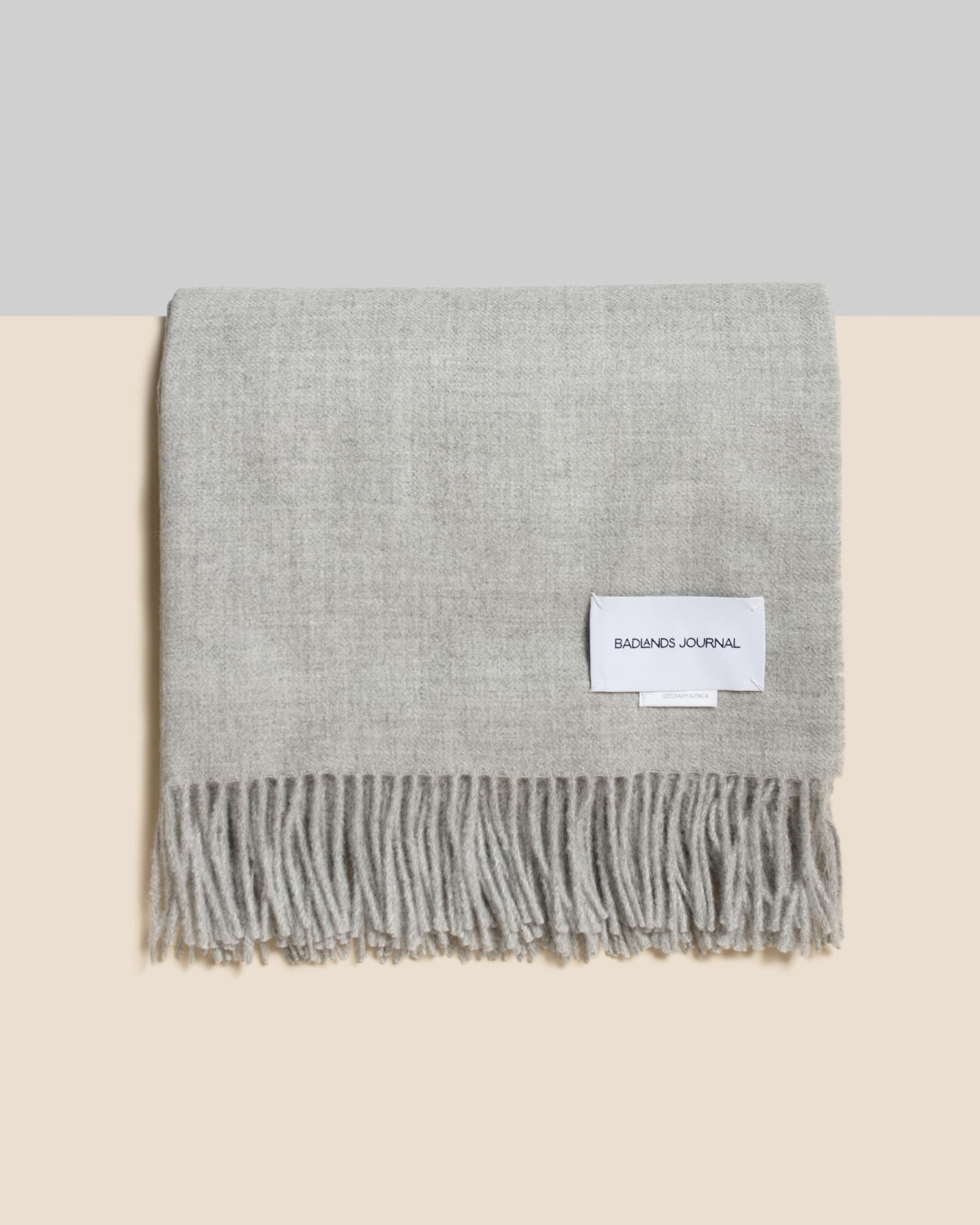 Home by Badlands Alpaca Throw - Grey