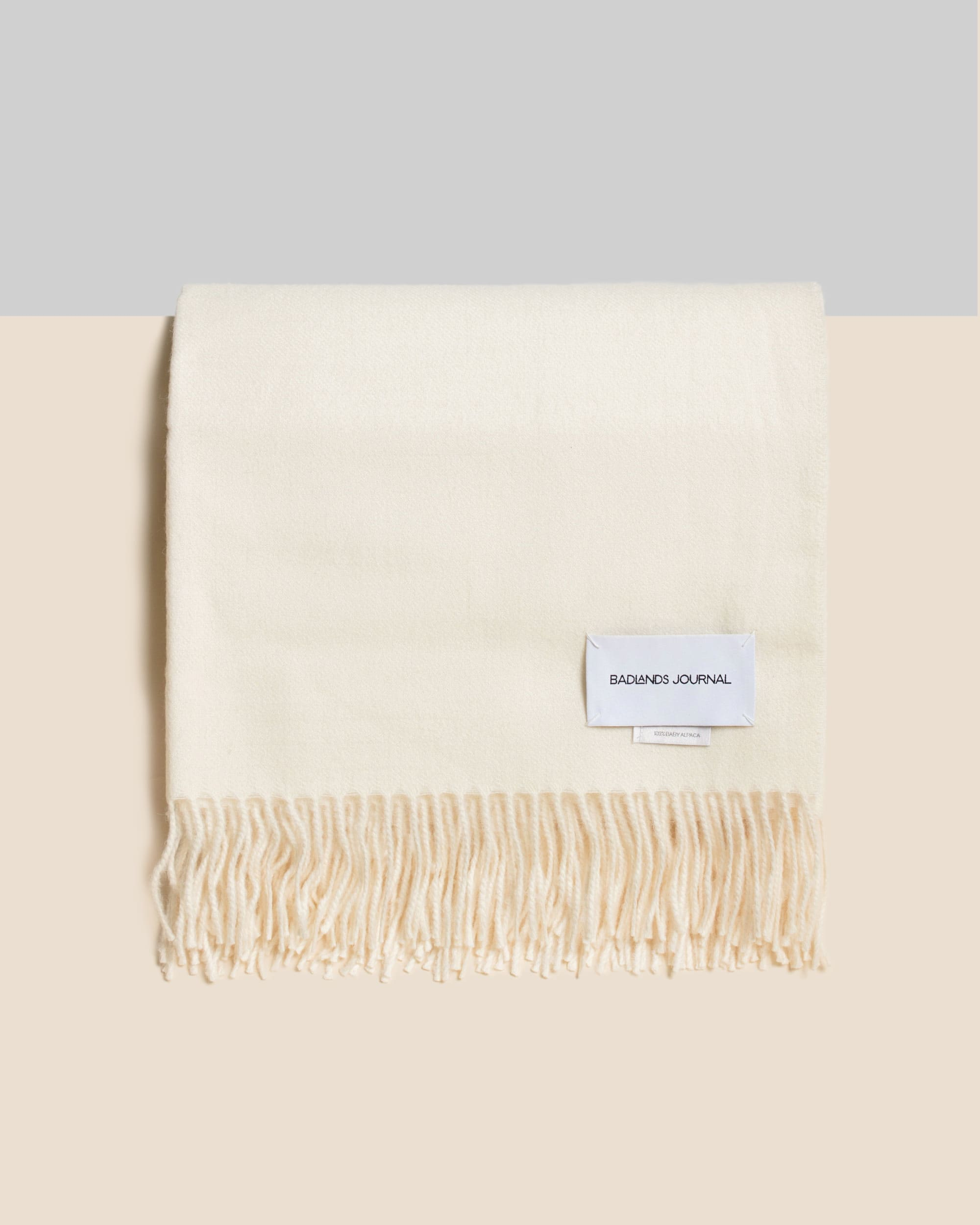 Home by Badlands Alpaca Throw - Ivory