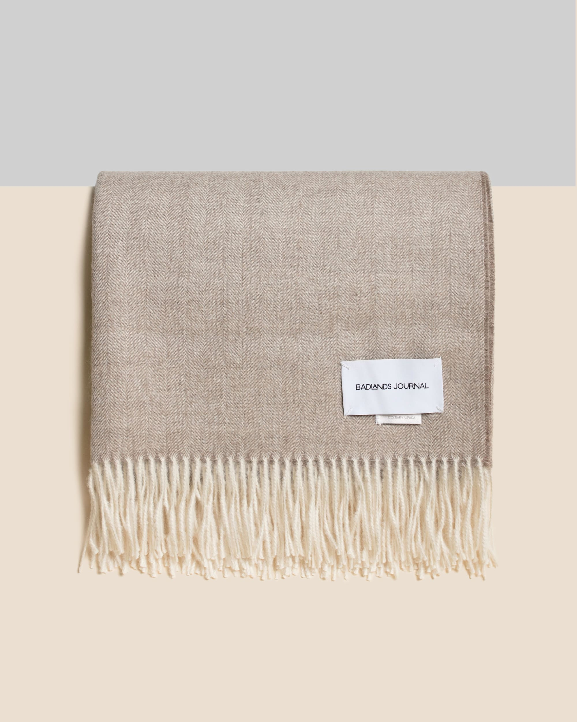 Home by Badlands Alpaca Throw - Sand
